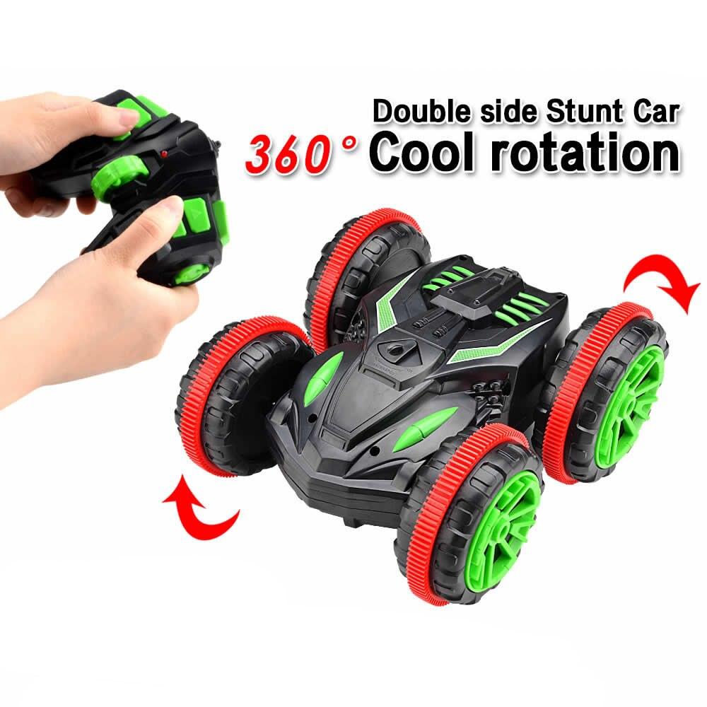 Zc 333-sl01b 2,4 Ghz Doppel Seite Amphibien Rc Stunt Auto 360 Grad Cool Rotation Fernbedienung Spielzeug
