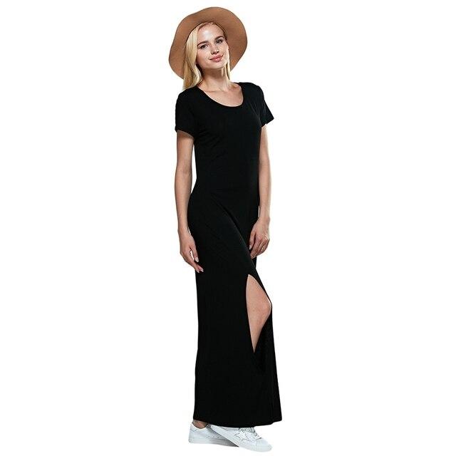 Vestidos largos casuales con manga corta