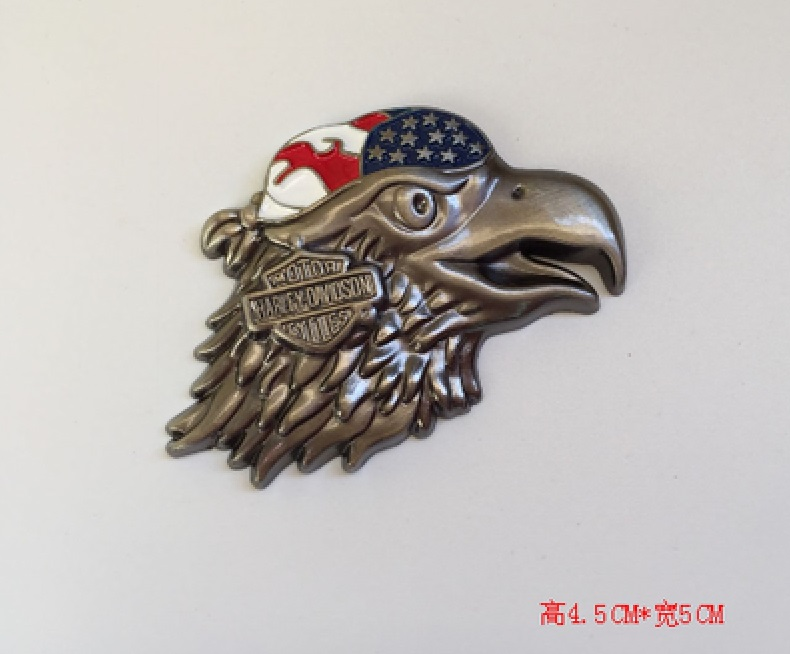 3D Eagle Zinc Alloy Metal Car Motorcycle Sticker Eagle Emblem Badge DIY Car Styling Stickers Accessories