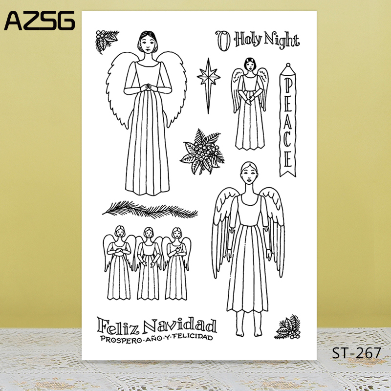 Angel silicone rubber seal Clear Stamp Scrapbooking Diary Multi Card DIY Decor