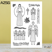 Angel/peace/holy day  Transparent Silicone Stamp for DIY Scrapbooking/Photo Album Decorative Card Making Clear Stamps Supplies
