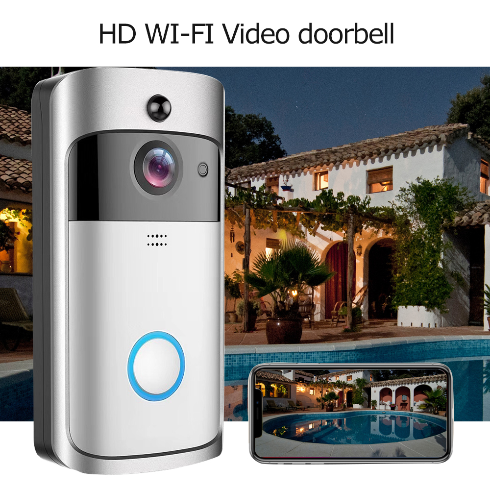 Image 3 - GEEKAM WiFi Video Doorbell V5 Smart IP Video Intercom WI FI Video Door Phone For Apartments IR Alarm Wireless Security Camera-in Doorbell from Security & Protection