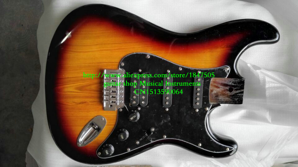 New electric guitar Body Sunburst OEM available Wholesale  guitar Body Free shipping 2016 shanghai guitar show new body acrylic guitar real guitar photos free shipping
