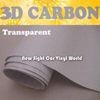 Transparent 3D Carbon Vinyl Film Air Free Bubble For Car Wrap Size:1.52*30m/Roll