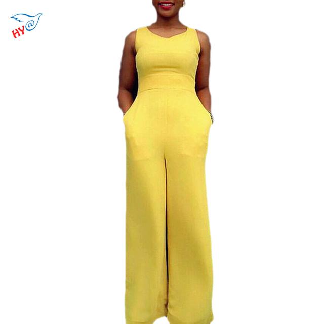 Amarela Sem Mangas Com Zíper de Acesso Casual bandage projeta Macacão Bolso Decoração Moda Elegante Romper Conjuntos de Roupas femininas