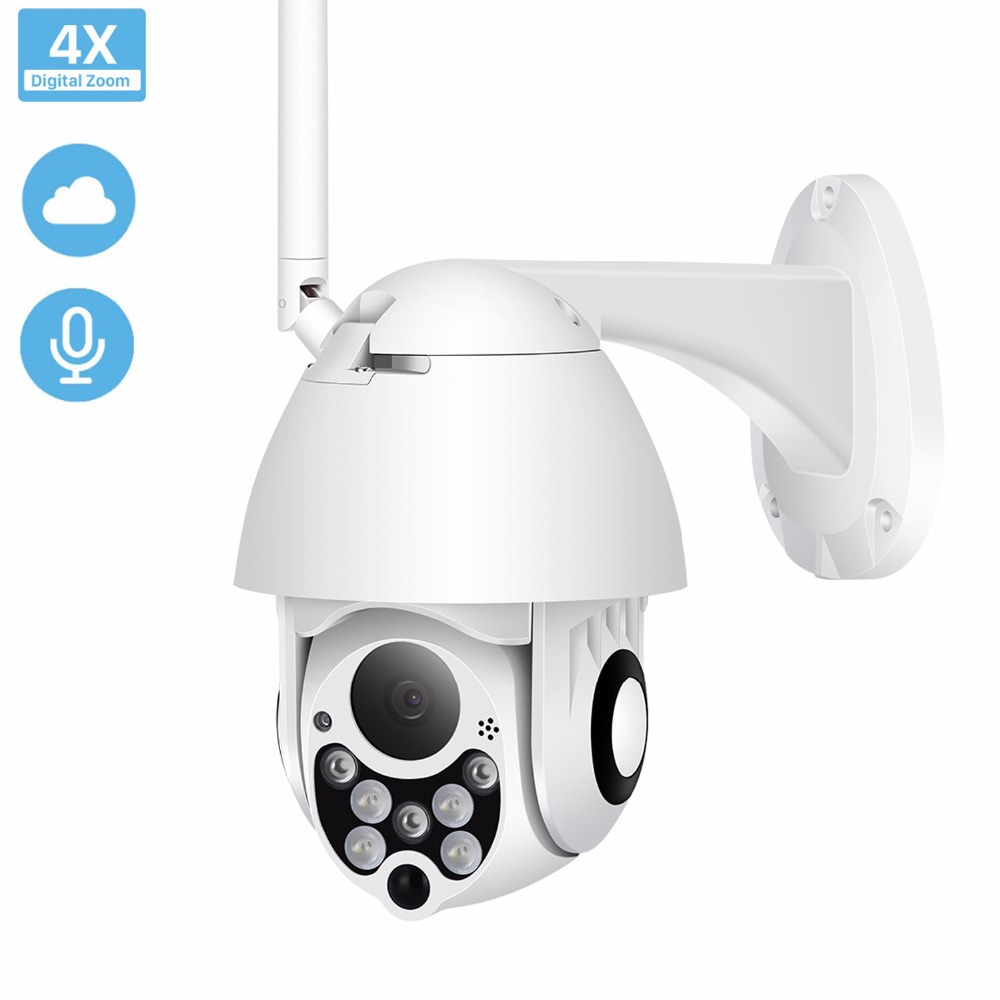 TOMLOV 1080P Wireless PTZ IP Camera Speed Dome CCTV Security Cameras Outdoor ONVIF Night Vision Audio P2P Camera WIFI AP Mode|Surveillance Cameras| |  - title=