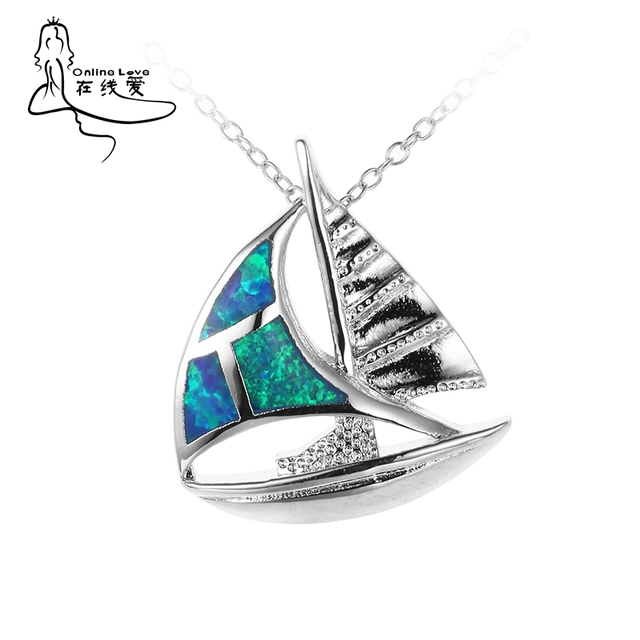 Sailboat shape silver plated fire opal pendants with chain top sailboat shape silver plated fire opal pendants with chain top quality hot sale specific design unisex aloadofball Image collections