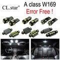 12 unids X free Error LED Kit paquete Interior lámpara de Luz para Mercedes Benz A class W169 A160 A170 A150 A180 A200 (2005-2012)