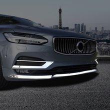 Frente del coche niebla moldura para Luz Decoración etiqueta engomada del corte para Volvo S90 2016-18 de niebla Auto embellecedor de luz tiras Exterior modificado Accesorios