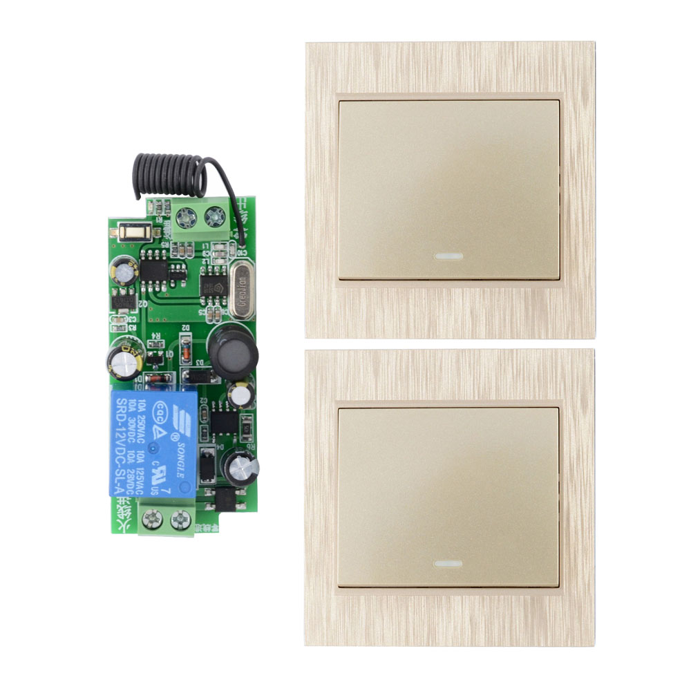 AC 110V 220V 250V 1CH 2CH 10A RF Wireless Remote Switch Wireless Light Switch + Wireless Transmitter Wall Panel Remote Control 24v 1ch rf wireless remote switch wireless light lamp led switch receiver