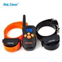 Sound Vibration Human Dog Training Collar Rechargeable No Shock Bark Stop Pet Products Anti Bark Collar 998N for 2 Dogs