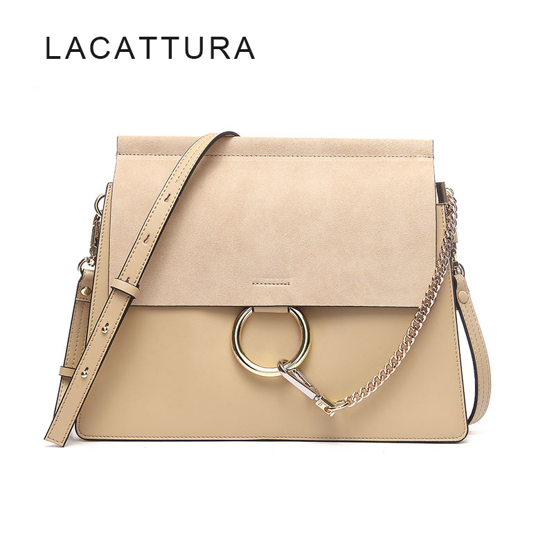 LACATTURA Hot Sale Famous Brand Design Women Handbag High Quality Genuine Cowhide Leather Cloe Bag Casual Chain Shoulder Bag luxury genuine leather bag fashion brand designer women handbag cowhide leather shoulder composite bag casual totes