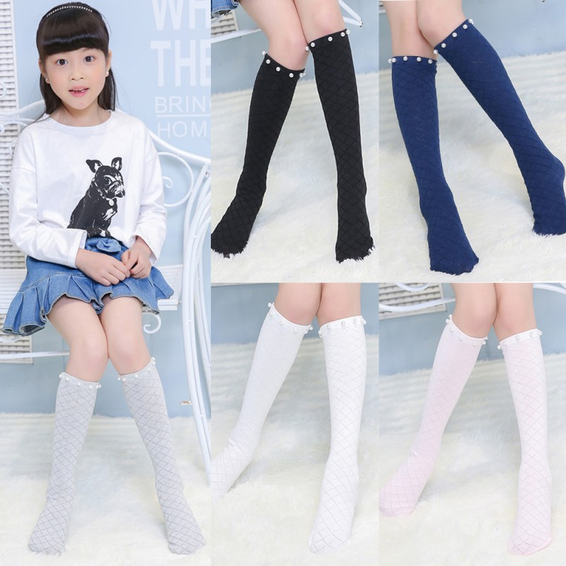 e75e05a31 Cute Cartoon Cotton Baby Kids Girls Stocking Toddlers Knee High Socks  Tights Bow Warm Floral Stocking-in Tights   Stockings from Mother   Kids on  ...
