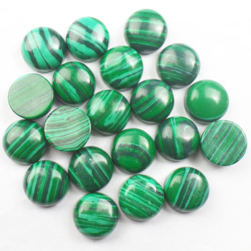 Free Shipping! (10 pieces/lot) Man Made Malachites Round CAB Cabochon 6x3.5/8x3.5/10x4.5mm Fashion Jewelry