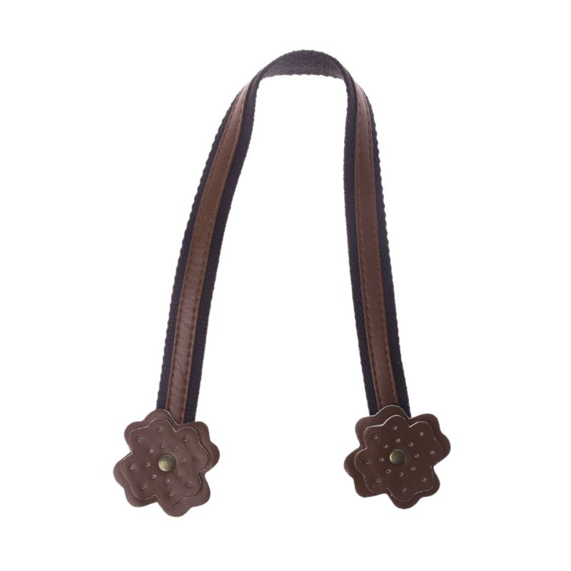High Quality 45cm PU Leather + Nylon Bag Strap Handle Shoulder Bags Belt Band For Handbag DIY Accessories