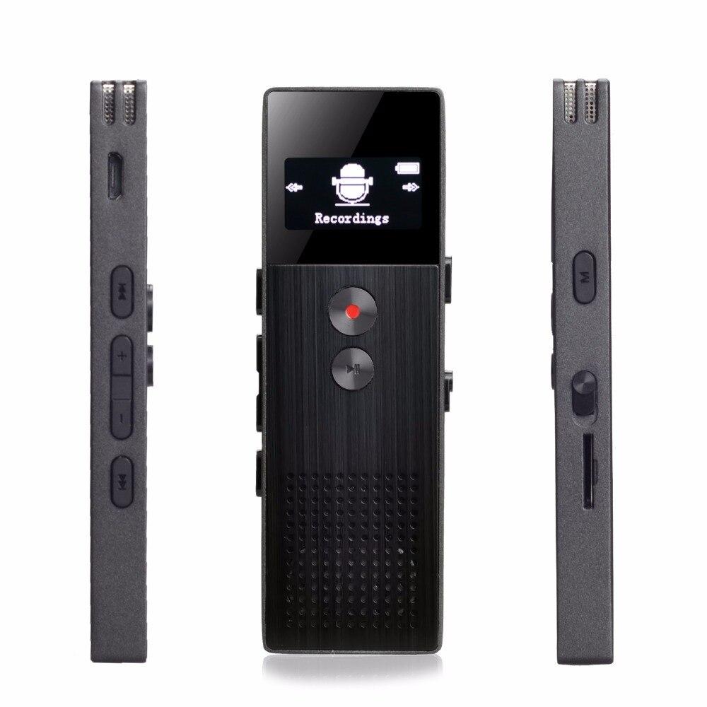 Enregistreur vocal numérique professionnel activé par la voix 8 GB stylo espion USB prise en charge Radio FM lecteur Mp3 sans perte de carte TF Hi Fi