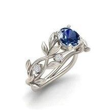 Горячее предложение, женское серебряное обручальное кольцо, дизайн в виде листьев, роскошное кольцо с кубическим цирконием, ювелирное изделие, подарок, ювелирные изделия кольца