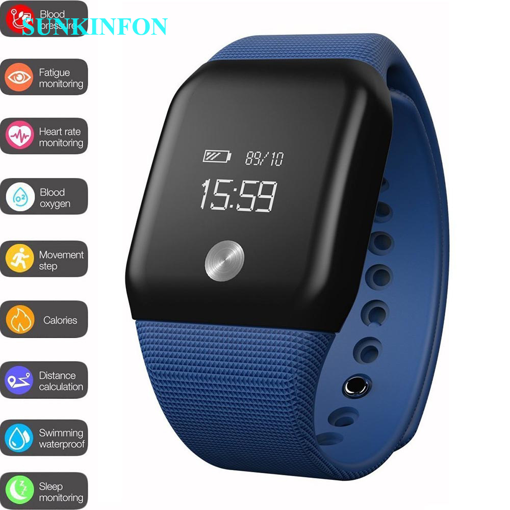 Smart Bracelet A88 Heart Rate Blood Oxygen Monitoring Movement Step Sleep OELD Watch Wristband Compatible with IOS Android Phone fashion z18 smart bracelet blood oxygen heart rate monitoring sns reminder pedometer sport smart wristband for woman android ios