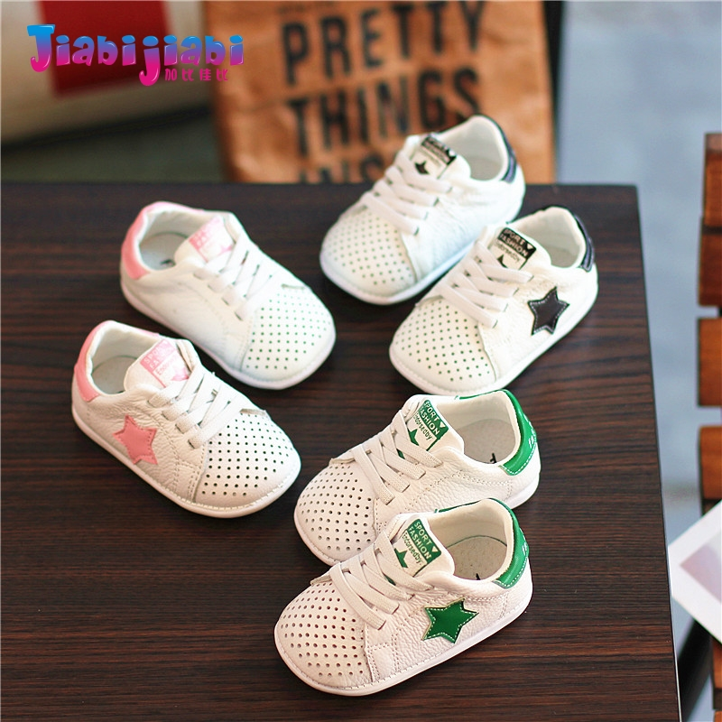 0-2T New Summer Baby Boys Girl Shoes Infant Moccasins Prewalker Soft Bottom Toddler Shoes Genuine Leather Hollow out Sneaker