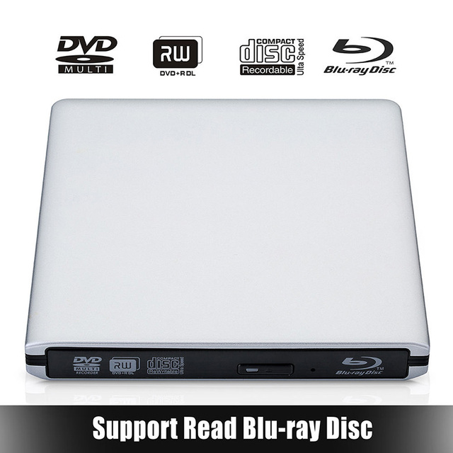[Navio do Armazém Local] jogador bluray usb3.0 externo cd/dvd rw burner escritor bd-rom blu-ray drive para apple macbook laptop