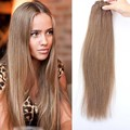 8A Russian Remy Hair Straight Clip in Extensions Blonde #8 Light Brown Best Clip in Human Hair Extensions