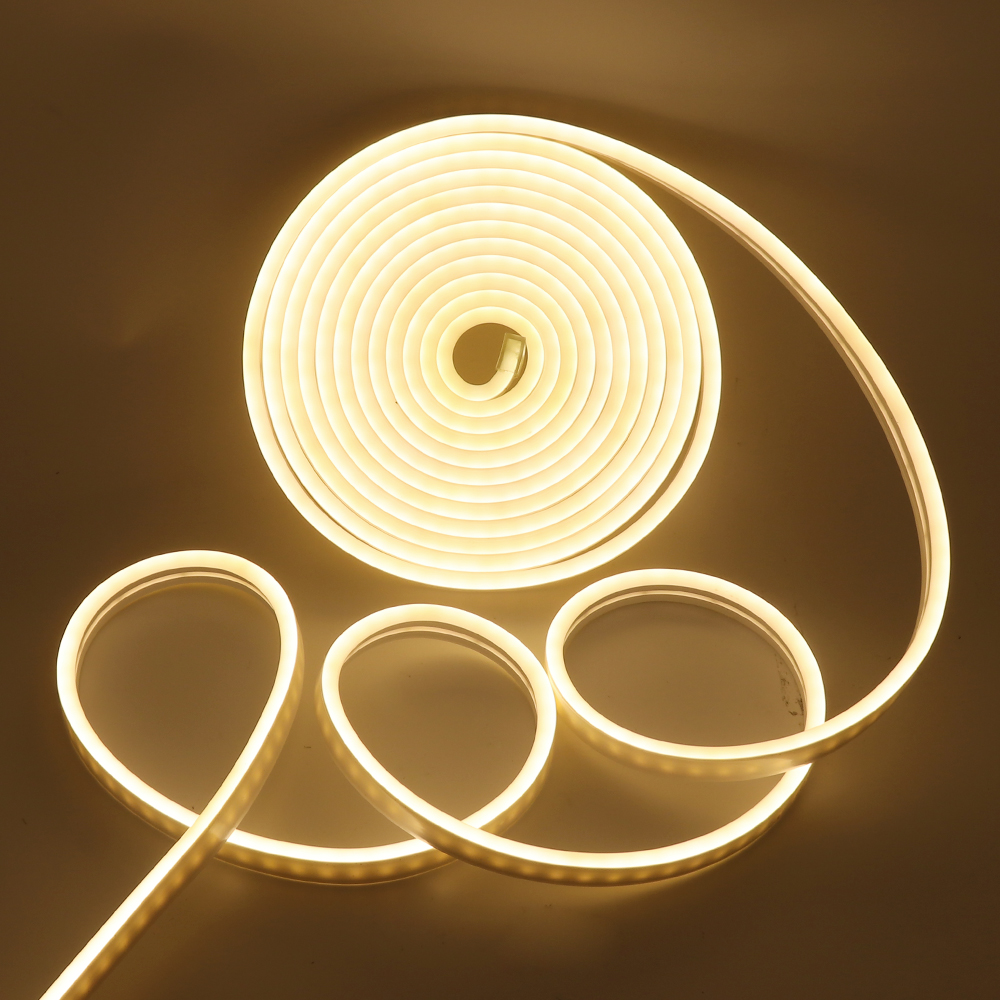 360 Bend Flexible LED Neon Light Outdoor Indoor Modelling Lighting SMD 2835 120leds Strip Rope Light 6x12MM DC12V Power Adapter