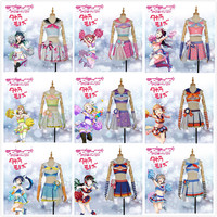 Takerlama LoveLive!SunShine!! Aqours Hanamaru Kanan Ruby Yoshiko Riko Chika Dia Watanabe Mari Cheerleaders Awakening Cosplay