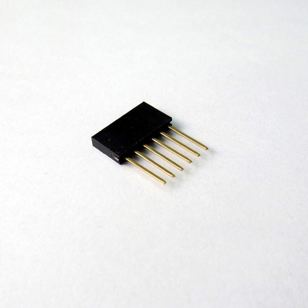 10Pcs 6Pin Female Tall Stackable Header Connector Socket Arduino Shield Yellow