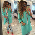 autumn winter fashion candy color cotton long sleeved round collar wide-waisted chain pocket coat pocket for women
