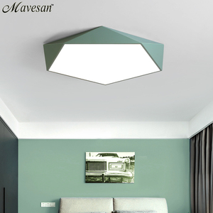 Image 4 - Macarons Ceiling Lights Colorful Lampshade Lamp For Living room Bedroom Kids room ceiling mount indoor Lights Ceiling Lights