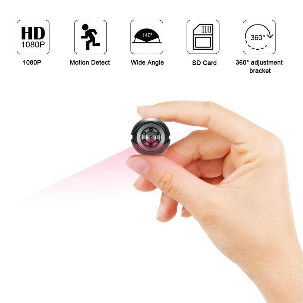SQ6 Mini Camera 1080P Sensor Portable Security Camcorder small cam Night Vision Motion Detection Support Hidden TFcard pk sq 9