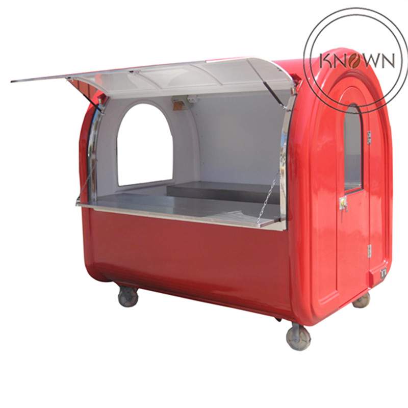 China cheap price mobile hot dog cart and mobile snack food cart and food truck trailer design