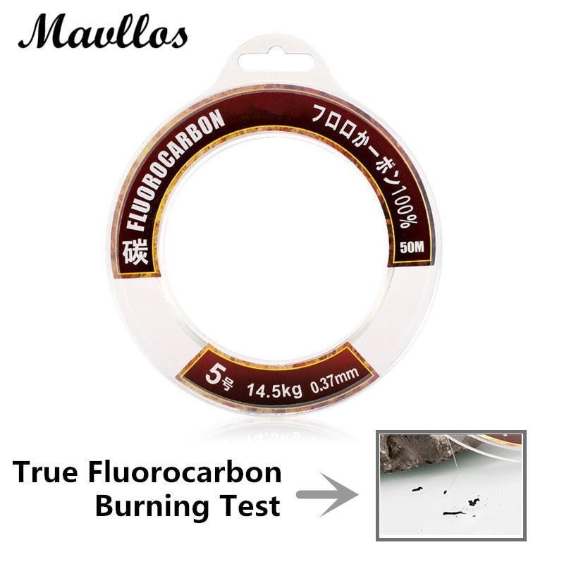Mavllos 100 100m fluorocarbon fishing line carp super for Best monofilament fishing line for saltwater