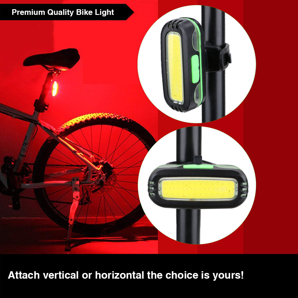 Bike Cycling LED Front Light Headlight Lamp Super Bright USB Rechargeable