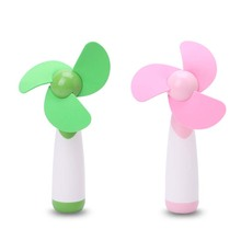 Portable Handheld Mini Fan Super Mute AA Battery Operated Cooling Home Travel