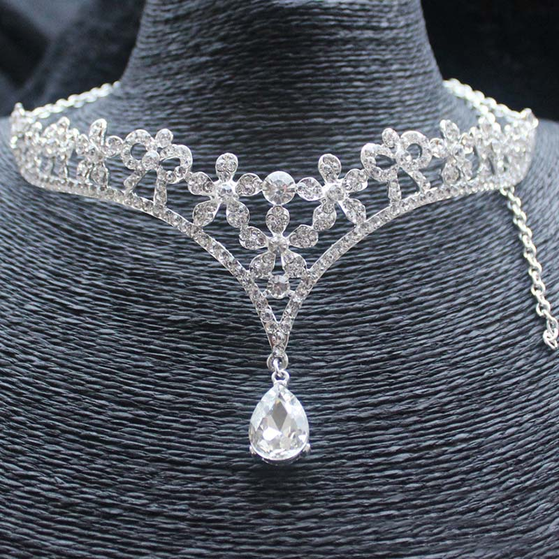 Fairy Queen Delicate Crystal Crown Hair Accessories Bridal Wedding Tiaras  Head Jewelry Rhinestone Forehead Head Pieces-in Hair Jewelry from Jewelry  ... a4a62dc5786f
