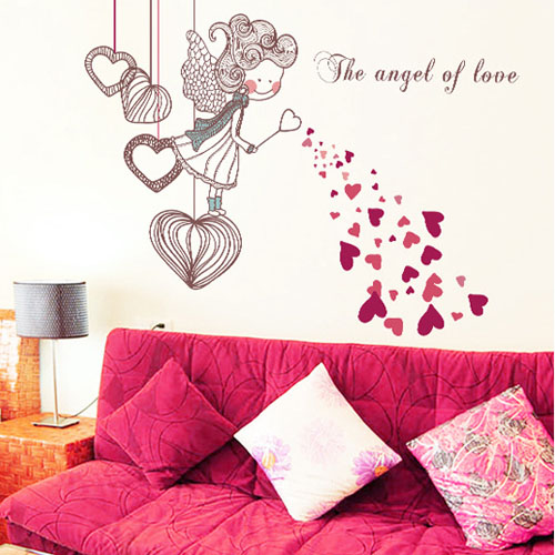 saturday monopoly the angel of love wall stickers for. Black Bedroom Furniture Sets. Home Design Ideas