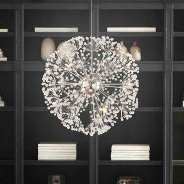 Dandelion crystal pendant light led g4 bulbs included italy style dandelion crystal pendant light led g4 bulbs included italy style k9 crystal audiocablefo