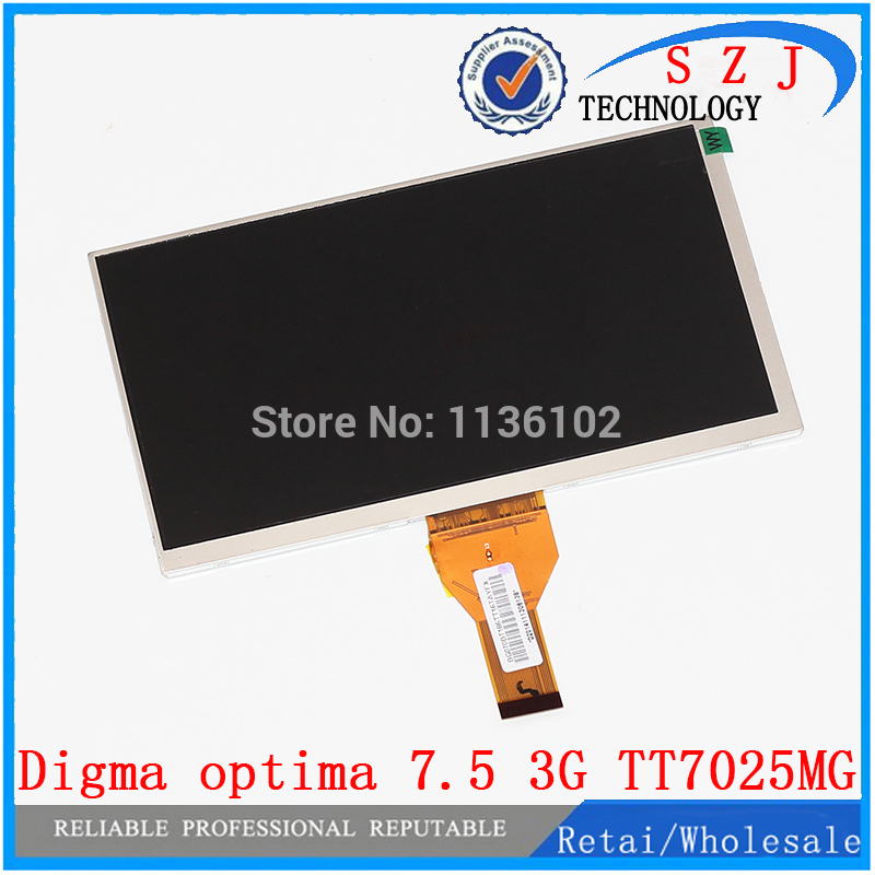 Original 7 inch Digma optima 7.5 3G TT7025MG 30pins LCD Display Matrix 1024*600 TFT LCD Screen Panel replacement Free Shipping free shipping original 9 inch lcd screen cable numbers kr090lb3s 1030300647 40pin