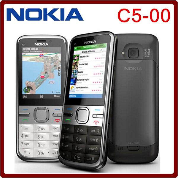 Цена за С5 Оригинальный Разблокирована Nokia C5 00 Мобильный Телефон 3.15MP 3 Г Bluetooth FM Дешевый Мобильный Телефон Бесплатная доставка