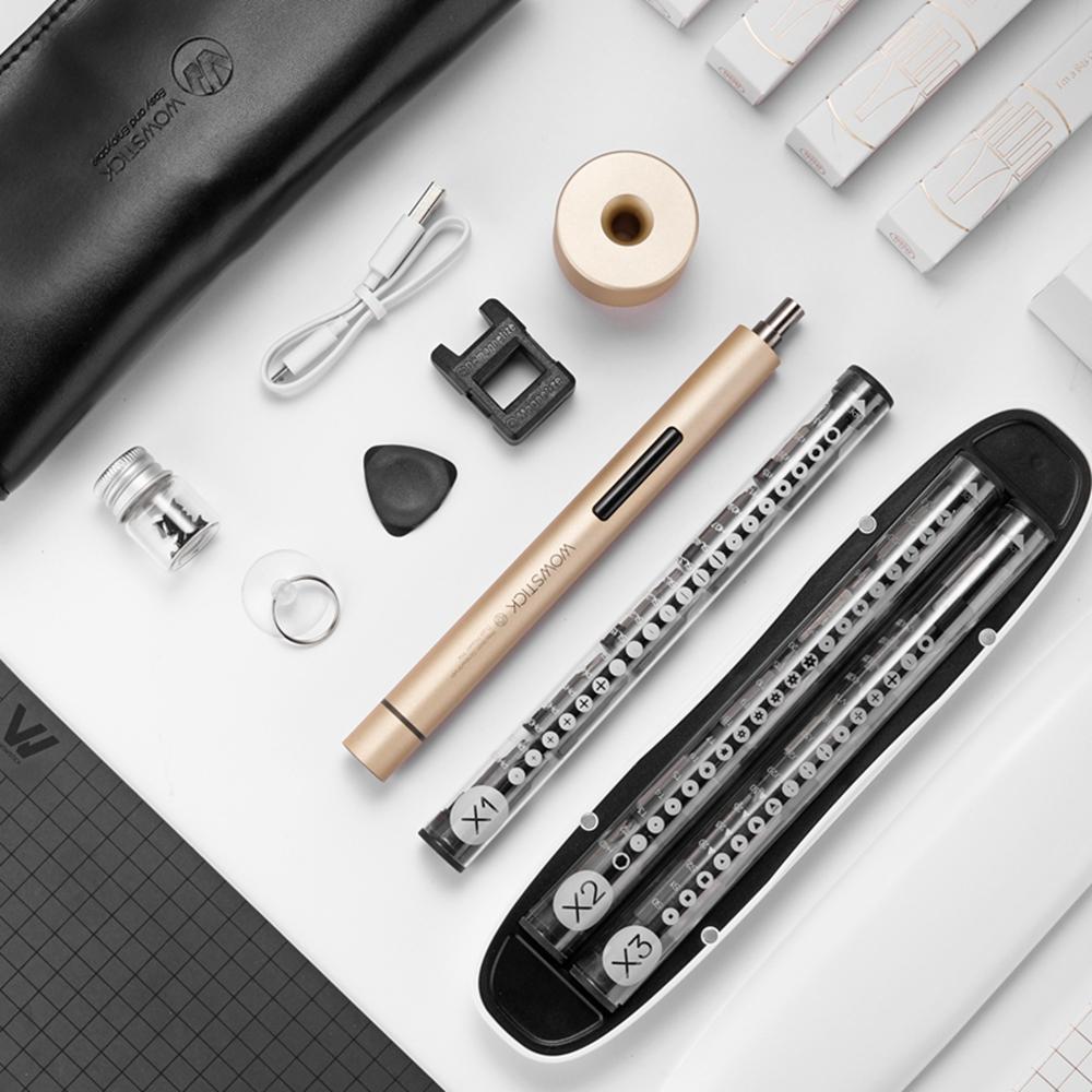 Nouveau Xiaomi Wowstick 1 + précision Kit électrique tournevis rechargeable bricolage outils de réparation pour téléphone portable ordinateur boîte-cadeau