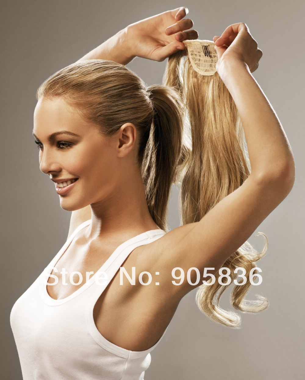 Clip in strawberry blonde loose wavy brazilian virgin human hair clip in strawberry blonde loose wavy brazilian virgin human hair drawstring ponytails hair extensions 100g in ponytails from hair extensions wigs on pmusecretfo Images