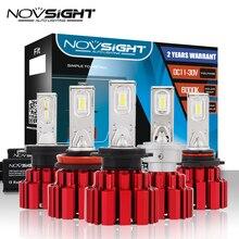 NOVSIGHT H4/9003/HB2 Hi/lo луч D1 H7 H11 9005 9006 светодиодный фары автомобиля 13600LM 90 W Светодиодный Фонарь лампы накаливания 6000 K