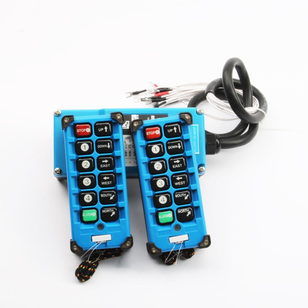 2 émetteurs + 1 récepteur télécommande industrielle commutateurs 10 canaux touches bouton de Direction grue grue - 2