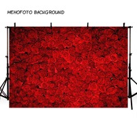 MEHOFOTO Red Rose Backdrops Valentine's Day Flower Decor Tracery Wall Wedding Party Photo Background Photography Studio Props