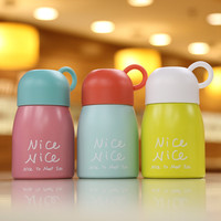 Creative Mini Vacuum Cup Straight Stainless Steel Cute Portable Thermos Cup