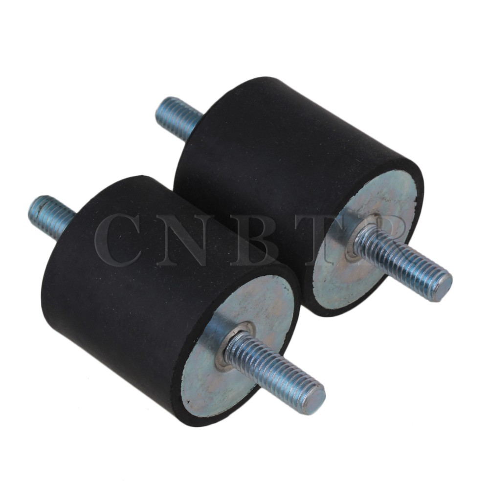 CNBTR 2PCS M8 Rubber Double Ends Screw Anti-Vibration Mount Silentblock For Pump  10 x double end thread m4 10 rubber damper rubber mount mount size 15mm 15mm