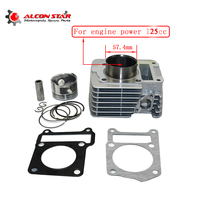 Alconstar 57.4mm Big Bore Cylinder Piston Ring Gasket Kit For Yamaha YBR125 Motorcycle Cylinder Kit Dirt Pit bike Racing