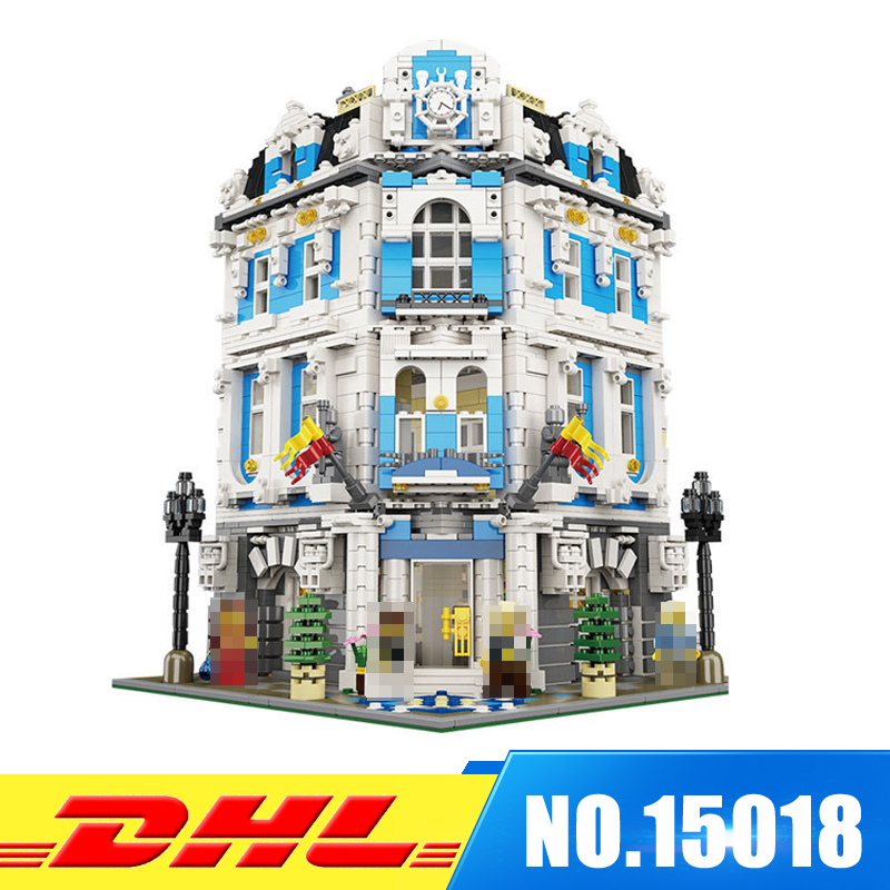 LEPIN 15018 3196pcs Creator City Series Sunshine hotel MOC Model Building Kits Brick Toy Compatible Christmas Gifts lepin 15018 3196pcs creator city series sunshine hotel model building kits brick toy compatible christmas gifts