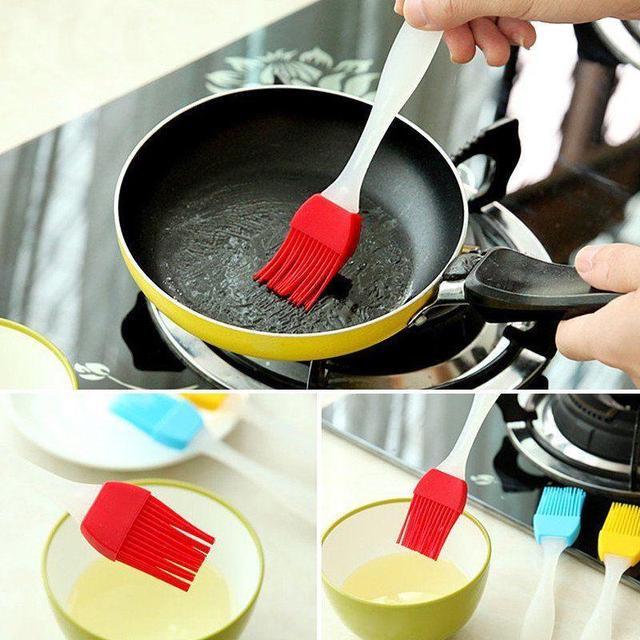 Pasticceria Olio Barbecue Pennello Per Condimenti Strumento di Cottura Del Silic